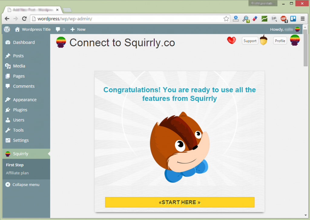 Install squirrly seo