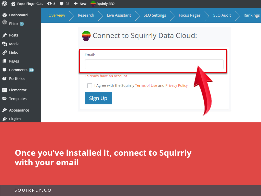 Install Squirrly SEO 8