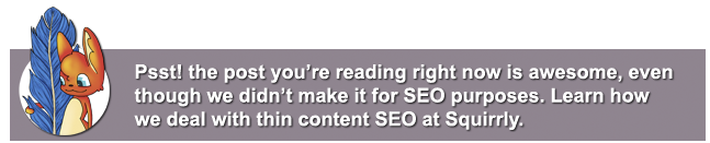 our special seo strategy for thin content